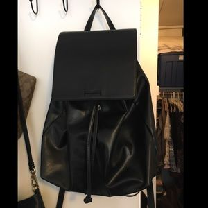Sole Society Black Leather Backpack